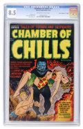 "Golden Age (1938-1955):Horror, Chamber of Chills #11 Davis Crippen (""D"" Copy) pedigree (Harvey,1952) CGC VF+ 8.5 Off-white to white pages...."