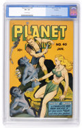 Golden Age (1938-1955):Science Fiction, Planet Comics #40 Rockford pedigree (Fiction House, 1946) CGC VF+8.5 Off-white pages....