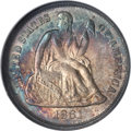 Seated Dimes, 1861 10C MS67 NGC....