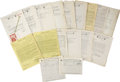 Movie/TV Memorabilia:Memorabilia, Vintage Movie Theatre/Studio Vintage Contracts. ...