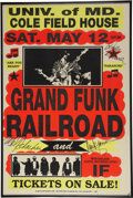 Music Memorabilia:Autographs and Signed Items, Grand Funk Railroad Band-Signed Poster....