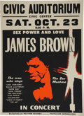 Music Memorabilia:Posters, James Brown Civic Auditorium Concert Poster (1971)....