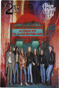 Music Memorabilia:Posters, Allman Brothers Band Autographed Poster (1995)....