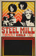 Music Memorabilia:Posters, Springsteen Related - Steel Mill Venue Poster (c. 1970)....