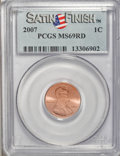 Lincoln Cents, 2007 1C Satin Finish MS69 Red PCGS. PCGS Population (204/0).(#149539)...
