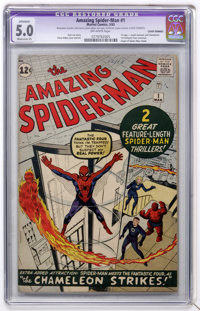 The Amazing Spider-Man #1 (Marvel, 1963) CGC Apparent VG/FN 5.0 Moderate (P) Off-white pages