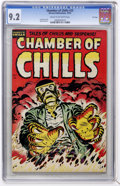 Golden Age (1938-1955):Horror, Chamber of Chills #25 File Copy (Harvey, 1954) CGC NM- 9.2 Cream tooff-white pages....