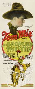 "Movie Posters:Western, The Broncho Twister (Fox, 1927). Insert (14"" X 36""). ..."
