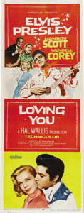 "Movie Posters:Elvis Presley, Loving You (Paramount, 1957). Insert (14"" X 36""). ..."