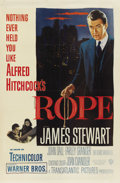 "Movie Posters:Hitchcock, Rope (Warner Brothers, 1948). One Sheet (27"" X 41""). ..."