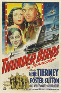 "Movie Posters:War, Thunder Birds (20th Century Fox, 1942). One Sheet (27"" X 41""). ..."