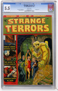 Golden Age (1938-1955):Horror, Strange Terrors #1 (St. John, 1952) CGC FN- 5.5 White pages....
