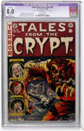Golden Age (1938-1955):Horror, Tales From the Crypt #35 (EC, 1953) CGC Apparent VF 8.0 Slight (P)White pages....
