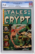 Golden Age (1938-1955):Horror, Tales From the Crypt #40 (EC, 1954) CGC VF- 7.5 Off-white pages....