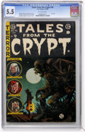Golden Age (1938-1955):Horror, Tales From the Crypt #46 (EC, 1955) CGC FN- 5.5 Off-white pages....