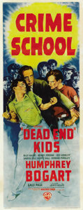 "Movie Posters:Crime, Crime School (Warner Brothers, 1938). Insert (14"" X 36""). ..."
