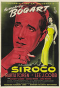 "Movie Posters:Drama, Sirocco (Columbia, 1951). Spanish One Sheet (27.5"" X 40""). ..."