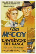"Movie Posters:Western, Law Beyond the Range (Columbia, 1935). One Sheet (27"" X 41""). ..."