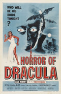"Movie Posters:Horror, Horror of Dracula (Universal International, 1958). One Sheet (27"" X41""). ..."