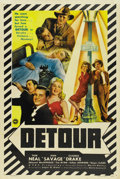 "Movie Posters:Film Noir, Detour (PRC, 1945). One Sheet (27"" X 41""). ..."