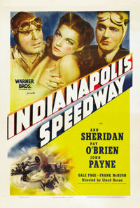 "Indianapolis Speedway (Warner Brothers, 1939). One Sheet (27"" X 41"")"