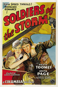"Soldiers of the Storm (Columbia, 1933). One Sheet (27"" X 41"")"