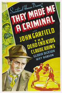 """They Made Me a Criminal (Warner Brothers, 1939). Other Company One Sheet (27"""" X 41"""")"""
