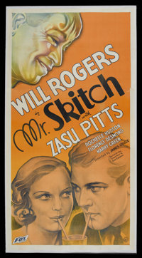 "Mr. Skitch (Fox, 1933). Three Sheet (41"" X 81""). Comedy. Starring Will Rogers, Zasu Pitts, Rochelle Hudson, Ch..."
