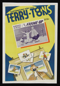 """Movie Posters:Animated, Terry-Toons Stock (20th Century Fox, 1938). One Sheet (27"""" X 41"""")Gandy Goose in """"The Frame-Up."""" Animated. Directed by Pau..."""
