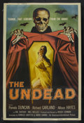 "Movie Posters:Horror, The Undead (American International, 1957). Poster (40"" X 60""). Horror. Starring Pamela Duncan, Richard Garland, Allison Haye..."