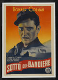 "Movie Posters:Adventure, Under Two Flags (20th Century Fox, 1936). Italian One Sheet (27"" X39.5""). Adventure. Starring Ronald Colman, Claudette Colb..."
