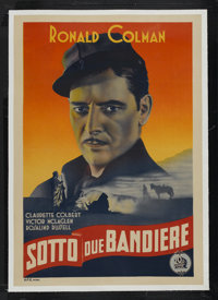"Under Two Flags (20th Century Fox, 1936). Italian One Sheet (27"" X 39.5""). Adventure. Starring Ronald Colman..."