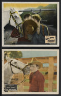 "Movie Posters:Western, Buck Jones Lot (Fox, 1927-1928). Lobby Cards (2) (11"" X 14"").Western. This lot includes lobby cards from ""The War Horse"" (1...(Total: 2)"