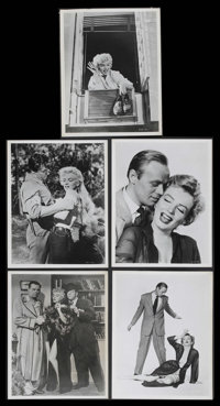 "Marilyn Monroe Lot (20th Century Fox, 1950s). Jumbo Stills (5) (11"" X 14""). Featuring five shots of the one an..."
