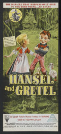 "Movie Posters:Animated, Hansel and Gretel (RKO, 1954). Australian Daybill (13"" X 30"").Animated. Starring Anna Russell, Mildred Dunnock, Frank Rogie..."