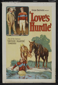 """Love's Hurdle (Universal, 1926). One Sheet (27"""" X 41""""). Comedy. Starring Charles King. Directed by Francis Cor..."""