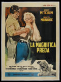 "Movie Posters:Adventure, River of No Return (20th Century Fox, R-1966). Italian 4 - Folio(55"" X 78""). Adventure. Starring Robert Mitchum, Marilyn Mo..."