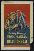"""Movie Posters:Short Subject, Uncle Tom's Gal (Universal, 1925). One Sheet (27"""" X 41""""). ShortSubject. Starring Edna Marion. Directed by William Watson...."""