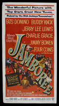 "Movie Posters:Rock and Roll, Jamboree (Warner Brothers, 1957). Three Sheet (41"" X 81""). Rock andRoll Musical. Starring Fats Domino, Buddy Knox, Jerry Le..."