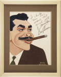 Movie/TV Memorabilia:Original Art, Ernie Kovacs Signed Caricature....