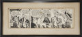 Movie/TV Memorabilia:Original Art, Ernie Kovacs' Steve Canyon Comic Strip Art From MiltonCaniff....