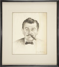 Movie/TV Memorabilia:Original Art, Ernie Kovacs Portrait Sketch....