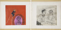 Movie/TV Memorabilia:Original Art, Ernie Kovacs Drawings.... (Total: 2 Items)