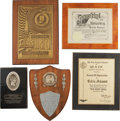 Movie/TV Memorabilia:Awards, Edie Adams' Assorted Awards Plaques.... (Total: 5 )