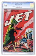 Golden Age (1938-1955):Science Fiction, Jet Powers #2 (Magazine Enterprises, 1951) CGC FN/VF 7.0 Cream tooff-white pages....