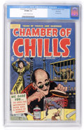 Golden Age (1938-1955):Horror, Chamber of Chills #24 (#4) Northford pedigree (Harvey, 1951) CGCVF/NM 9.0 Cream to off-white pages....