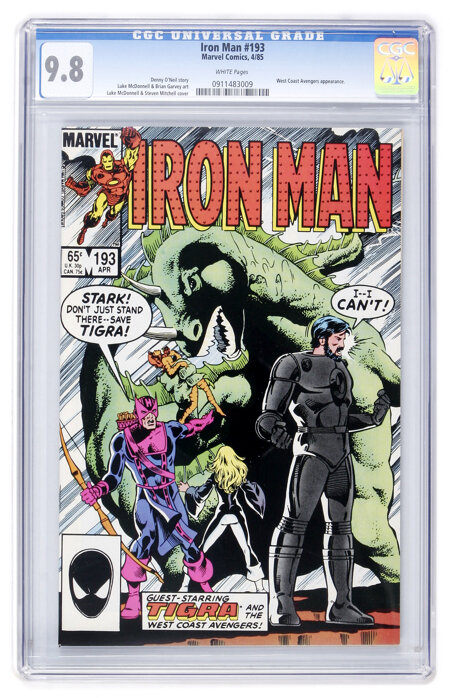 Iron Man #193 (Marvel, 1985) CGC NM/MT 9.8 White pages....