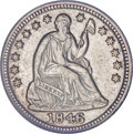 Seated Half Dimes, 1846 H10C --Improperly Cleaned--NCS. AU Details....