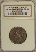 1837 1C Plain Cords, Small Letters MS64 Brown NGC....(PCGS# 1732)