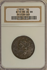 1818 1C MS64 Brown NGC....(PCGS# 1600)
